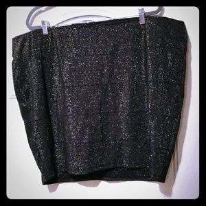 ❤️ TORRID Black Sparkle Mini Skirt sz 4x ❤️